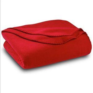 Red Fleece Throw Blanket